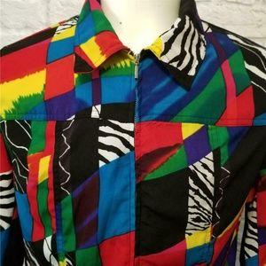 Vtg  SOUTHERN LADY Colorful Geometric Jacket